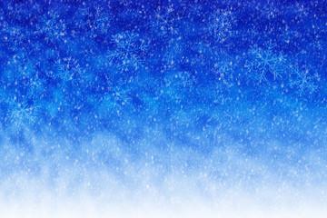 ein abstrackter Winterhintergrund mit Schneeflocken