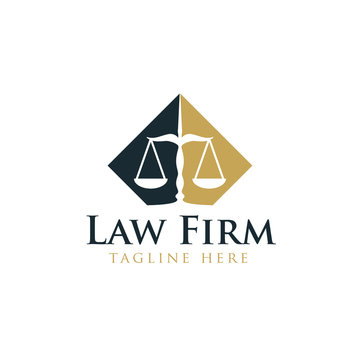 Law legal logo design vector