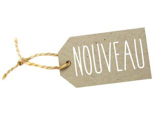 """Etiquette """"Nouveau"""""""