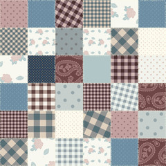 Patchwork of a fabric squares