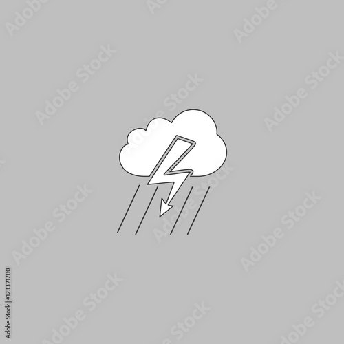 quotthunderstorm computer symbolquot stock image and royalty