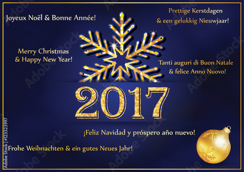 business new year greeting card 2017 in many languages text translation merry christmas - Merry Christmas In Italian Translation
