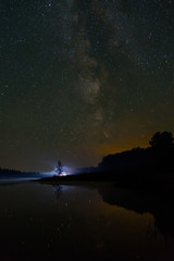 star lake sky milky way