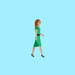 flat illustration of businesswoman