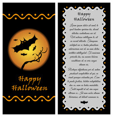 Template for Happy Halloween flyer or booklet