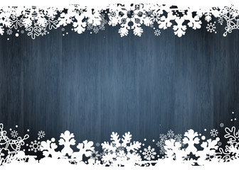 Christmas Wooden Snowflakes Background