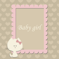 baby cute pink frame for little Princess.