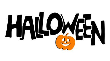 Halloween card, pumpkin