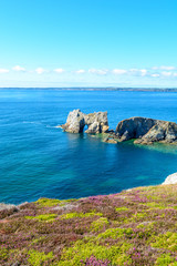 Sea at Camaret-sur-Mer in Brittany, France