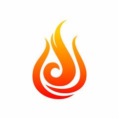 Fire Flame Logo Icon