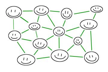Strichmännchen Köpfe – Verbindungen und Netzwerke