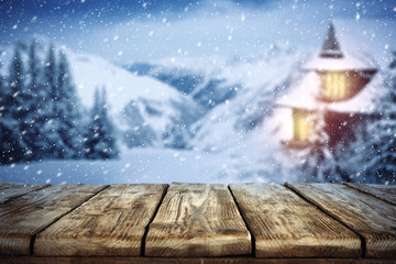 winter background of free space