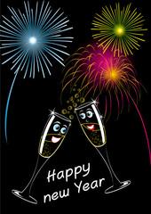 buon anno bicchieri spumante