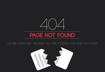 404 Page not found - paper