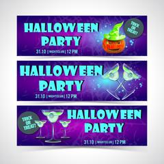 Halloween banner set