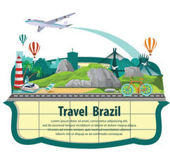 Travel the world by plane. Travel around brazil, by plane. Travel and Famous Landmarks.