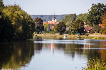 Vltava river, Czech Republic.