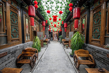 Keuken foto achterwand China Typical chinese courtyard