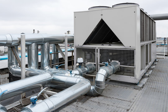 Air Cooled Water chiller with piping