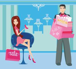 couple on shopping