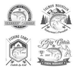 Fishing Tournament Vector Logos