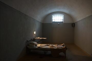 Dark prison cell