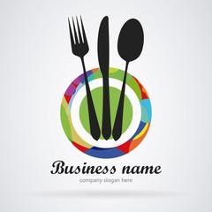 Logo restaurant. Modern colors