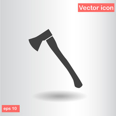 isolated axe black flat vector illustration