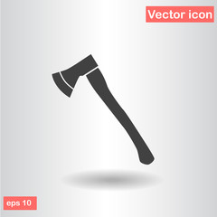 silhouette axe black flat vector illustration