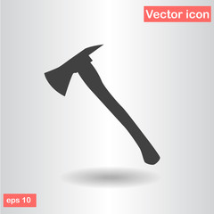 silhouette fire axe black flat vector illustration