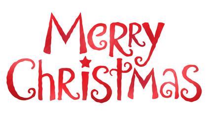 MERRY CHRISTMAS banner in festive handdrawn font