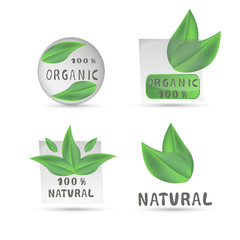 Vector illustration of logo for organic