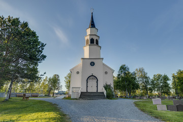 Alta English-inspired gothic church in Alta, Norway.