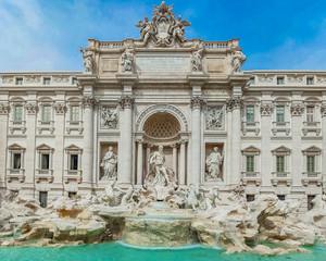Fond de hotte en verre imprimé Rome Trevi Fountain in Rome, Italy.