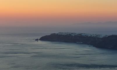 Panoramic view of Oia village , Santorini