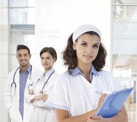 Portrait of pretty nurse