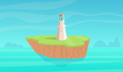 Landscape with lighthouse.
