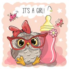 Cute Cartoon Owl girl