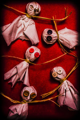 Scary halloween lollipop ghosts