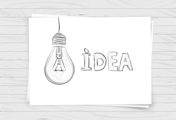White Paper with hand drawn business design elements. Vector design, Eps 10