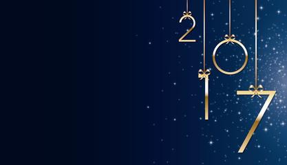 Bonne année 2017 bleu Fototapete