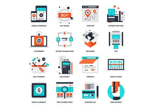 Digital Commerce Icon Set