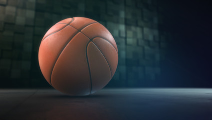 Basketball. High-resolution image. 3d rendering.