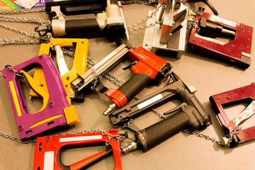 Pneumatic staplers. Tools.
