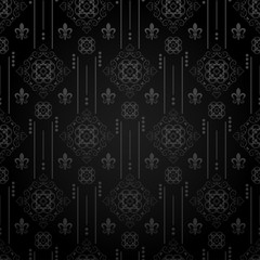 Retro Dark Seamless Pattern