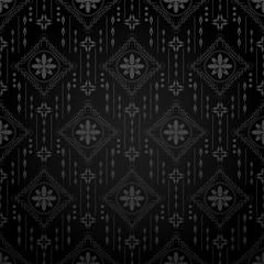 Black Dark Seamless Pattern