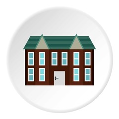 Large two storey house icon. Flat illustration of large two storey house vector icon for web