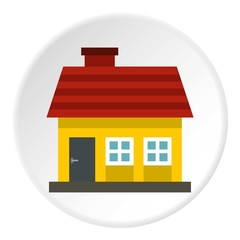 One storey house icon. Flat illustration of one storey house vector icon for web