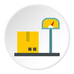 Scales for cargo icon. Flat illustration of scales for cargo vector icon for web