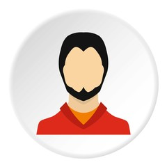 Young man with beard avatar icon. Flat illustration of young man with beard avatar vector icon for web
